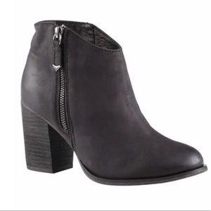 Aldo • Rusova Black Leather Ankle Booties